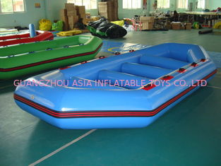 China 3.2m Long PVC tarpaulin Blue Color Inflatable Boat for 8 Persons factory
