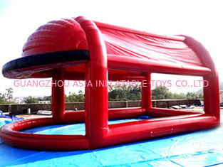 Red Colour UV Protected Kids Inflatable Pool with Tent for Sports Games