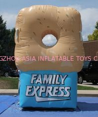 China Gaint Inflatable Bottles / Family Express Donut Inflatable Football Toss factory