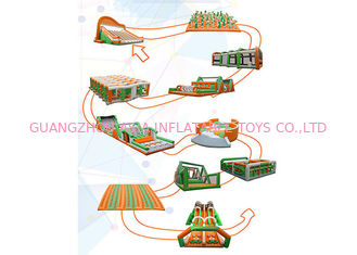 China Outdoor 5k Inflatable Run Obstacles For Adults, Event Giant Insane Inflatable 5k factory
