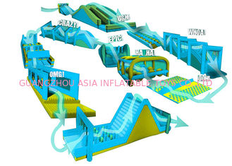 China 0.55mm PVC Tarpaulin Inflatable Obstacle Challenges / 5km Inflatable Run factory