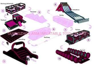 China Fire Proof Inflatable Obstacle Challenges For Playground , Amusement Park factory