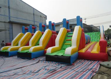 China Crazy Indoor Outdoor Inflatable Obstacle Challenges For Sports Game Center factory