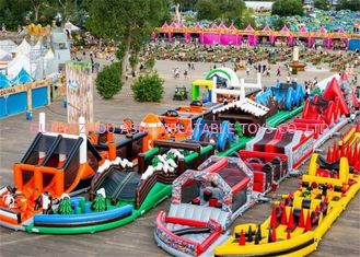 China 3 years Guaranteed Adrenaline Rush Extreme Inflatable Obstacle Course factory