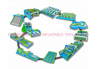 China Colorful Giant Inflatable Obstacle Course 5k For Adult Customized Size factory