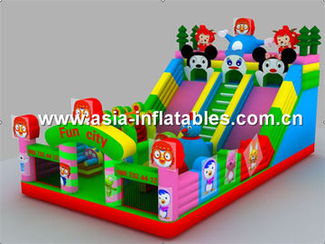 Coloful Inflatable Fun City / Inflatable Colorful Playground For Children Games