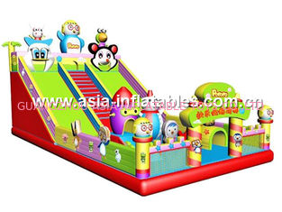Outdoor Inflatable Fun City Combo Bouncy Castle For Party Rental