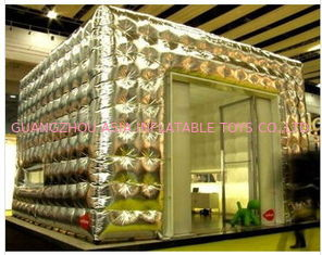 2013 silver inflatable cube tent