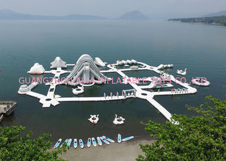 Lake Inflatable Floating Water Park Equipment , Inflatable Water Games