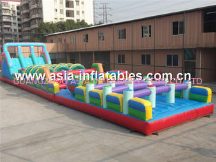 China Outside Plato PVC Tarpaulin Inflatable Obstacle Challenges For Children factory