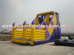China Hot Sale Inflatable Dry Slide With Arch Doors For Chidlren Park Outdoor Games factory