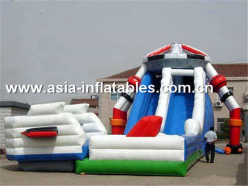 China Creative Inflatable Slide In Robot Shape For Children Sliding Games factory
