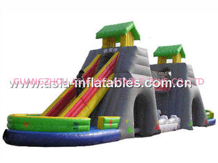 China Giant Inflatable Dry Slide For Children Soft Play Games In Fairground factory