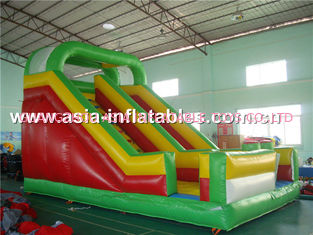 China Double Lane Inflatable Slide Game For Outdoor Children Sports Games factory