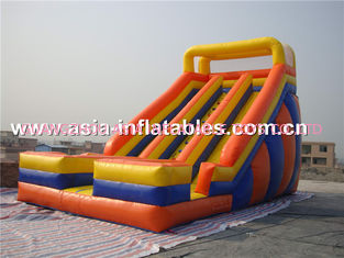 China Inflatable Pvc Tarpaulin Dual Slide For Children Park Games factory