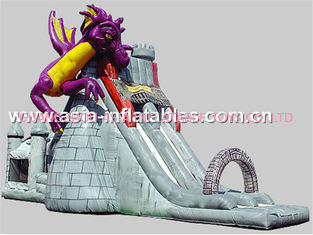 China Creative Inflatable Slide In Dragon And Castle Theme For Children Outdoor Games factory