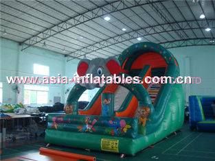 China Durable Inflatable Slide In Elephant Shape For House Party And Holiday Use factory
