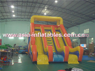 China Durable Inflatable Double Lane Water Slide For Aquatic Park Games factory
