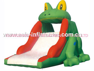 China Lovely Home Use Inflatable Slide In Frog Shape For Kids factory