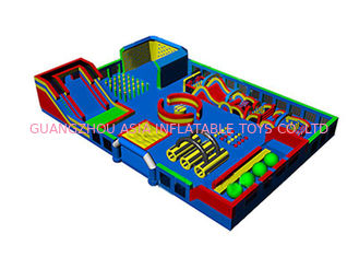 Big Inflatable Theme Park Bouncy Jumping Castle Playground For Kids