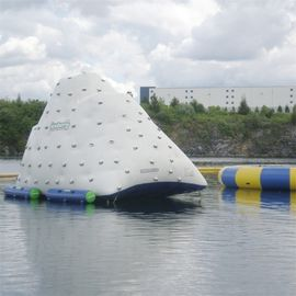 White Giant Inflatable Iceberg For Water Sport Customized Size 3 Years Warranty