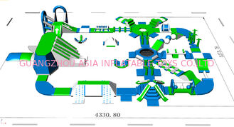 Lake / Beach / Sea Inflatable Water Park Equipment 3 Years Warranty
