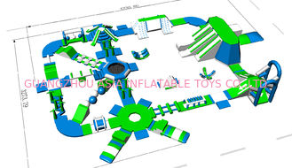 China Lake / Beach / Sea Inflatable Water Park Equipment 3 Years Warranty factory