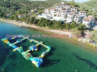 China Safety Blue Yellow Inflatable Water Amusement Park For Resort CE UL SGS factory