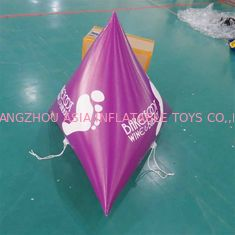 China Panton purple color 0.9mm PVC Tarpaulin Inflatable Marker buoys For Sale factory