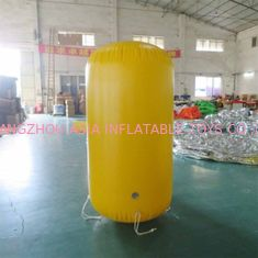 Plato 2mH Yellow Cylinder Blow Up Buoys / Inflatable Swimming Aid For Children