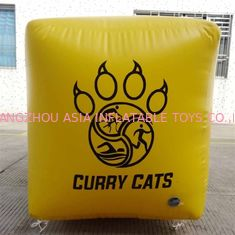 Cube Shape Tarpaulin Marker 0.9mm PVC Inflatable Buoys Customized Logo