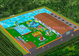 China Double Stitching Water Park Inflatable Pool Slide  For Teens Customized Color factory