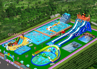 China Giant Removable Inflatable Water Park With Slide For Commercial Activities factory