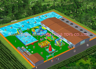 China Removeable Inflatable Water Park With Swimming Pool For Schools , Sports Arenas factory