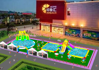 China Customized Size Inflatable Water Park With Protection Coating EN71-1-2-3 factory