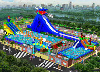 China Big Backyard Inflatable Water Park With Pool For Children 7 Years Old factory