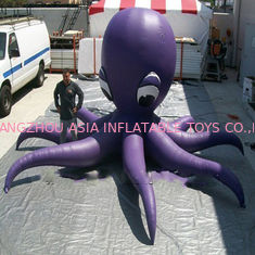 China Purple PVC Material Giant Inflatable Octopus For Ocean Show Advertising Decoration factory