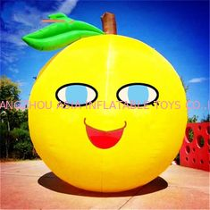 China Customized Size Advertising Inflatables Lemon Fruit Model With Logo Printing factory