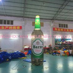 China 4m High Advertising Inflatables / Brown Inflatable Beer Bottle With Lighting factory