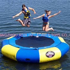 Blue and yellow Large Inflatable Water Sports , Aquapark Platinum Rebound Bouncer
