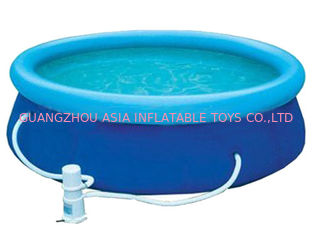 China Blue Colour Kids Inflatable Pool Center with Water Filters factory
