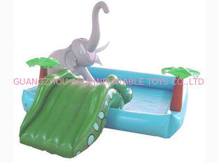 China Small Water Park Kids Inflatable Pool with Animal for Backyard Play factory