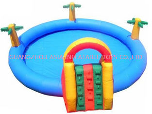 China Homeusing Water Park Kids Inflatable Pool with Plam Trees factory