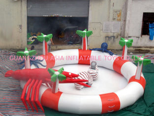 China Sea Animals Theme Water Park Kids Inflatable Pool for Homeusing  factory