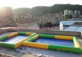 China Colored Rectangular Kids Inflatable Pool for Water Park Games Using factory