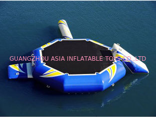 Hight Quality Water Park Inflatable Blue Water Trampoline Combo