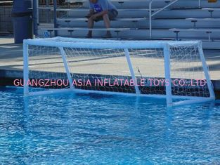 Pure White PVC Inflatable Water Sports , Pool Floating Water Polo Goals