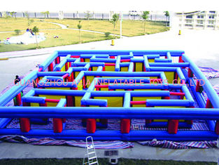 China Outdoor Inflatable Maze Obstacle, Inflatable Maze Crossing Game For Kids factory
