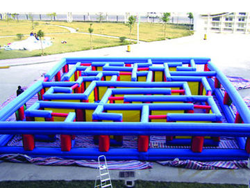 Outdoor Inflatable Maze Obstacle, Inflatable Maze Crossing Game For Kids