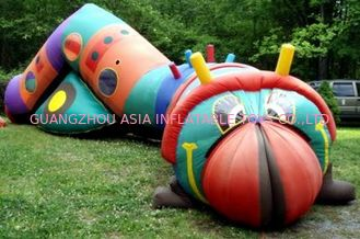 China Inflatable bugsy the caterpillar tunnel maze for children games factory